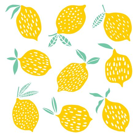 Lemons   vector illustration on white background.