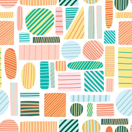Vector abstract geometric background. Modern abstract textile design seamless pattern Illustration