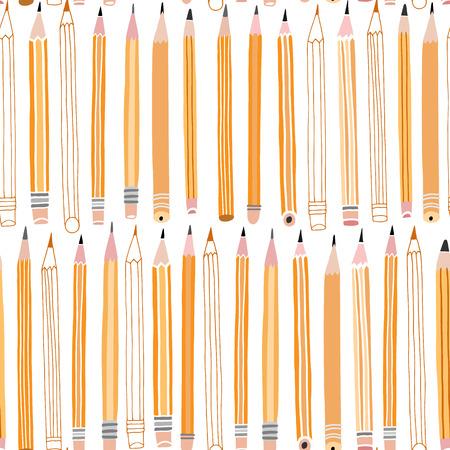 Vector pencil seamless pattern