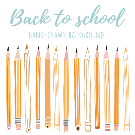 Vector pencil background. Back to school