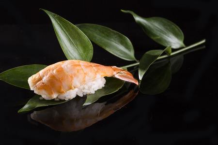 Japanese food on a black background