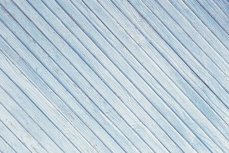 blue abstract background of diagonally arranged old wooden planks Banque d'images - 150185091