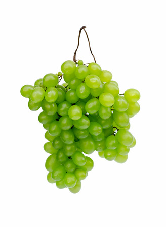 green grapes on a white background photo