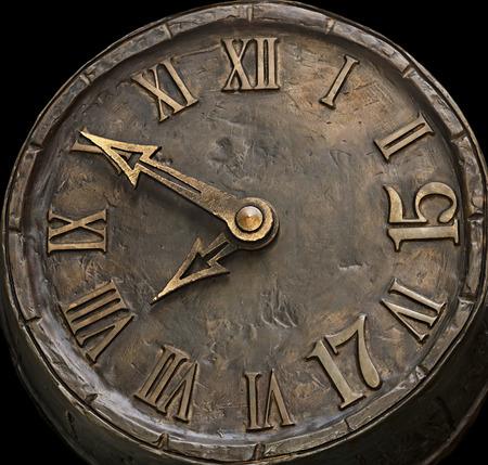 numeros romanos: las horas de acceso telefónico de una piedra Foto de archivo