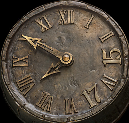numerals: the dial hours from a stone