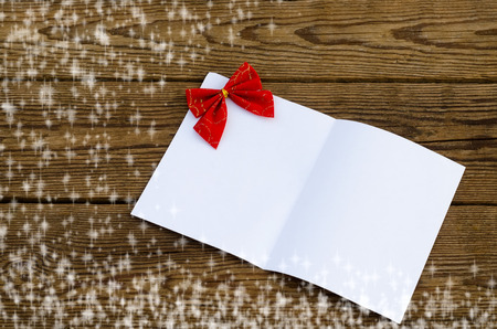 Christmas card with a sheet of paper photo