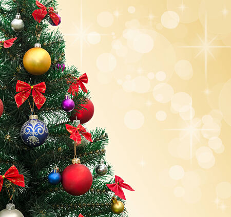 decorated Christmas fir-tree photo