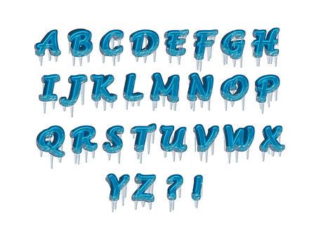 ice alphabet: letters alphabet ice