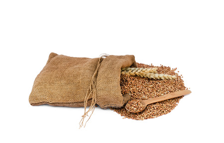 buckwheat in a sack photo