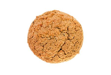 galletas de avena en un fondo blanco