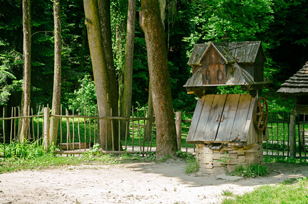 water well: old wooden water well
