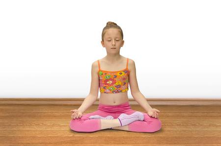 practises: girl practices yoga