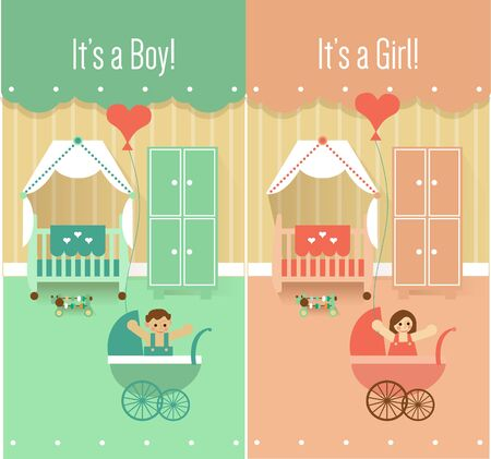 bad boy: Baby Shower Cards Design for Girl and for Boy
