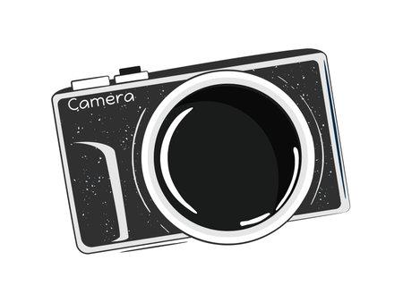 Vintage photo camera vector sketch illustrtation in doodle style. 일러스트