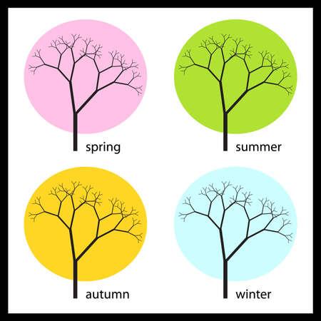 four seasons Stock Vector - 9817215