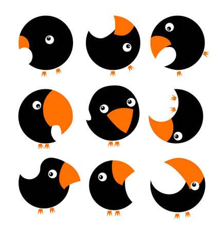 sparrows: bird set(1).jpg Illustration