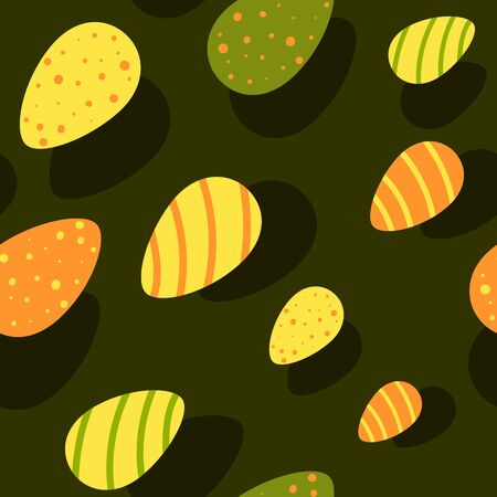 Seamless vector pattern with colorful eggs for Easter for wrapping paper or background Illustration