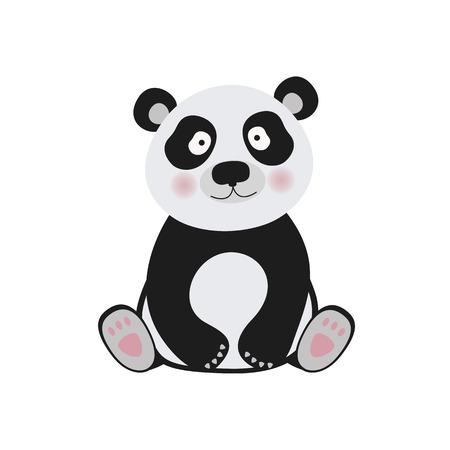 ejemplo del oso de panda de la fauna curiosa panda y el carácter del oso panda. Zoo oso panda de Asia y de la panda gigante llevan las especies en peligro de grasa. Parque zoología panda animal bosque.