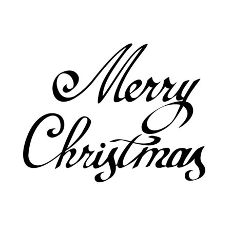 chrismas card: lettering Merry Christmas. element for congratulation cards, banners and flyers.
