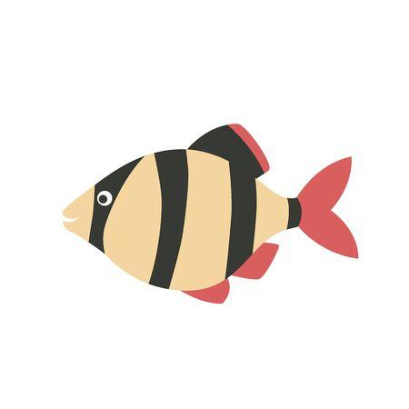 barbus: Barbus fish icon cartoon. Illustration