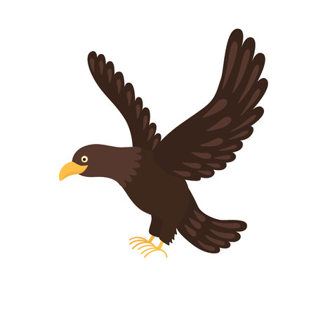 soar: eagle flying isolated on white background Illustration