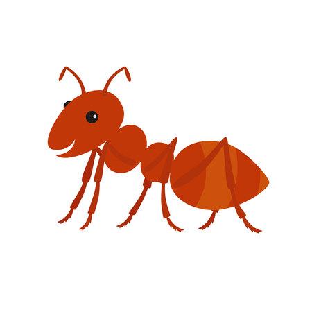 Cute ant cartoon.Vector illustration