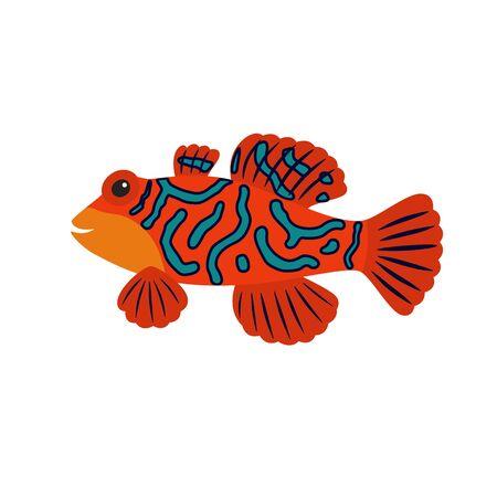 Cartoon mandarin fish