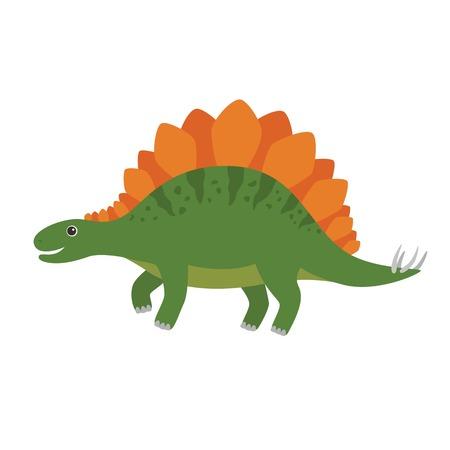 Stegosaurus vector cartoon illustration