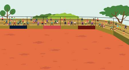 The Arena. The Rodeo background Vector illustration