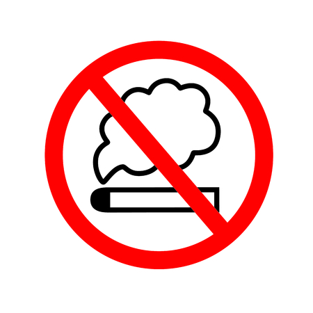 No smoking sign icon vector illustration on white isolated background. eps