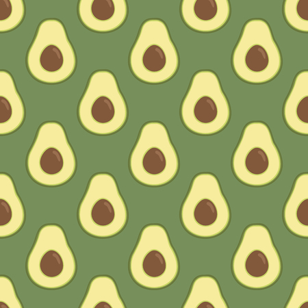 The pattern of avocado. Bright green background, lovely avocado. Healthy food. Good for printing banner, packaging, postcards. Simple seamless pattern