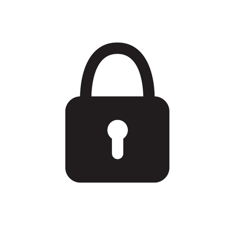 Lock vector icon on white isolated background. Eps