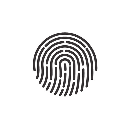 ID app icon. Fingerprint vector illustration on white isolated background.