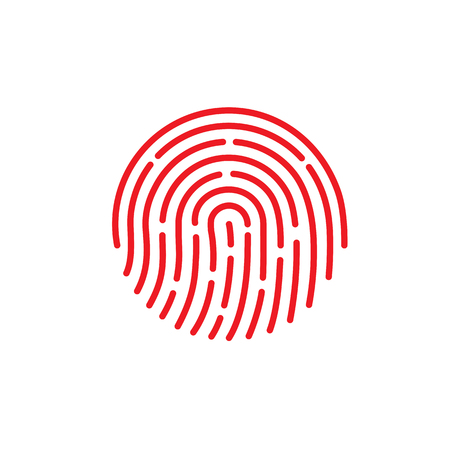 ID-App-Symbol. Fingerabdruck-Vektor-Illustration auf weißem Hintergrund isoliert. eps