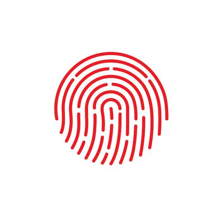 Ikona aplikacji identyfikatora. Ilustracja wektorowa linii papilarnych na na białym tle. EPS