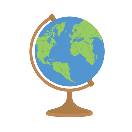 World globe on a stand vector illustration.