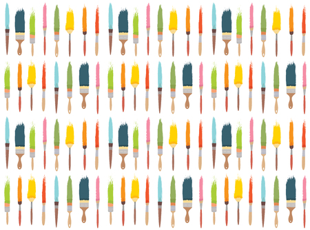 Seamless pattern art brushes with color paint. Vector illustration.