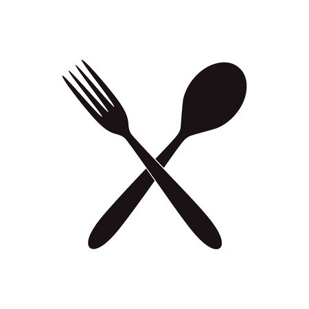 Spoon Fork Icon Vector Design. illustration on white isolated background