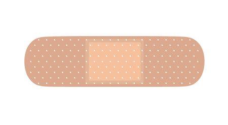 Medical adhesive bandage. Vector illustration on white isolated background. Ilustracja