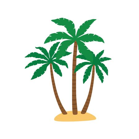 Palm trees isolated on white. Vector illustration