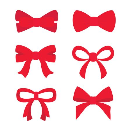 Red bow set for your design.