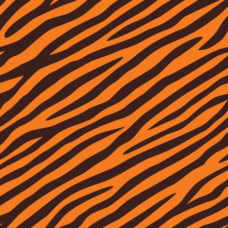 Background texture of tiger skin. Seamless pattern.