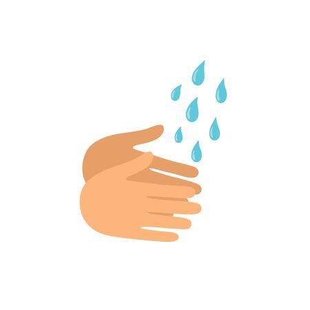 Washing hands icon vector illustration isolated on white background. Ilustracja