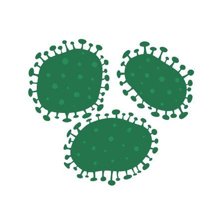 Virus, bacteria, infection, coronavirus. Vector illustration isolated.