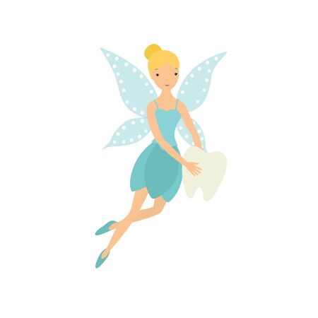 Tooth fairy. Vector illustration isolated on white background. EPS10 Ilustracja