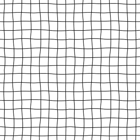 Cell hand drawn. Seamless pattern. Grid of dark lines