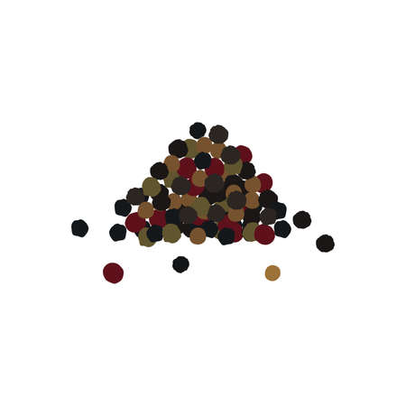 Heap spices. Pepper mixture. Black, red and white pepper