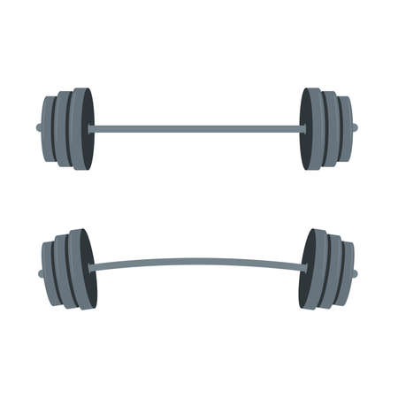 barbell illustration with barbell for lifestyle design. Gym equipment.