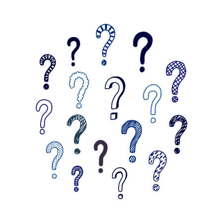 Set of hand drawn question marks. Vector illustration. Illusztráció