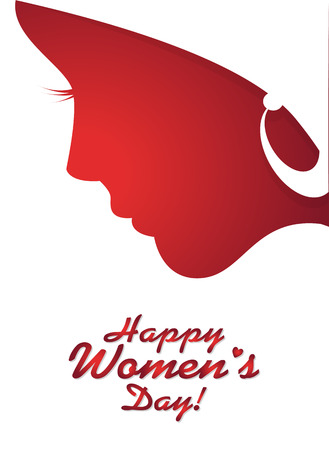 Greeting card for International Women's Day celebration. Vector illustration for your design 矢量图像